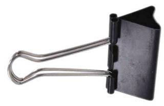 Фото товару Біндер затискач для паперу, ширина біндера 51мм, в упаковці 12шт. Чорний