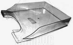 """Фото товара Лоток горизонтальный для бумаг, пластиковый, 1 отделение, """"Симметрия"""" ECONOMIX E31802-17, дымчатый"""