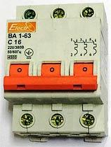 Фото товара Выключатель-автомат 3в1 220V 16A, Electr BA 1-63 C 16