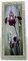 Фото товара Рамка для фото 15*42 см, №12, деревянная, белая с золотистым узором