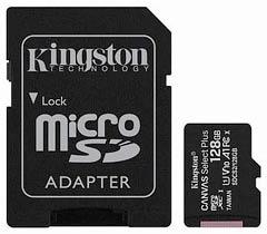 Фото товару Карта пам`яті 128Gb class 10, Kingston, microSDHC