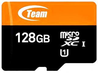 Фото товару Карта пам`яті 128Gb Team Group microSDXC UHS-1 + SD адаптер
