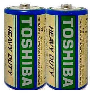 Фото товару Батарейка R20 Toshiba, 1.5V