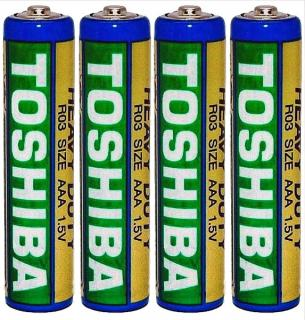 Фото товару Батарейка AAA LR03 Toshiba 1.5V (бл.6/1)