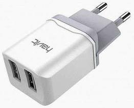 Фото товару Зарядний пристрій HV-H140 220v на USB, 5V 2A, білий