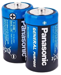 Фото товару Батарейка R20 Panasonic 1.5V