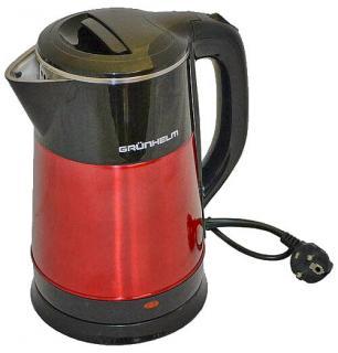 Фото товару Чайник електричний GRUNHELM EKP-1855SR, 2,5л, дисковий, 1500-1800 Вт