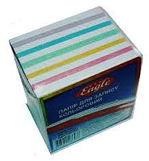 Фото товара Блок бумаги для записей, н/клееный, 85*85 mm, 400 листов, цветной