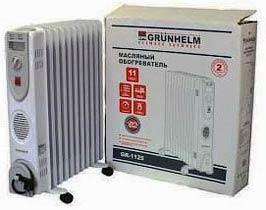 Фото товару Масляний обігрівач GRUNHELM GR-GR-1125 / 2,5 кВт