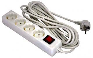 Фото товара Сетевой удлинитель Grunhelm GS4W3M 220 вольт на 4 розетки, длина кабеля 3м