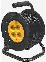Фото товару Мережевий подовжувач GRUNHELM RL15G20M 220 вольт на котушці на 4 розетки, довжина кабелю 20м