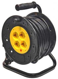 Фото товару Мережевий подовжувач GRUNHELM RL1G20M 220 вольт на котушці на 4 розетки, довжина кабелю 20м