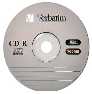 Фото товара Диск CD-R Verbatim 700Mb 80min 52x Bulk 50 шт