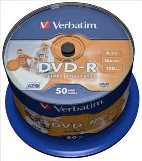 Фото товара Диск DVD-R Verbatim 4,7 GB 16x Bulk 50 шт