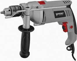 Фото товара Дрель ударная FORTE ID 1100 VR 1100 Вт, 0-1000, 0-2800 об / мин, 2 скорости, зубчатый патрон, реверс