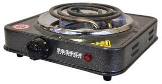 Фото товару Плита електрична настільна Grunhelm GHP-5811 1,0кВт, одинарна, вузький тен