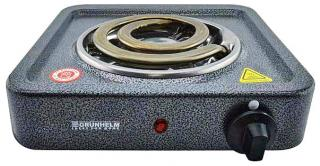 Фото товару Плита електрична настільна Grunhelm GHP-5713 1,0кВт, одинарна, широкий тен