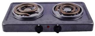Фото товару Плита електрична настільна Grunhelm GHP-5712 2,0кВт, подвійна, широкий тен