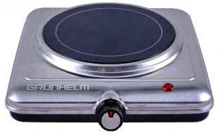 Фото товару Плита електрична настільна Grunhelm GHP-5842S 1,2кВт, одинарна, склокераміка