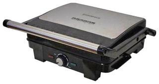 Фото товару Гриль-барбекю електричний Grunhelm G2200 потужність 2200Вт (покриття жарочной поверхні антіпригарне, рефлена поверхня пластин, панелі приладу при работі нагріваються до 210 градусів)
