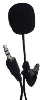 Фото товару Мікрофон Gembird MIC-C-01 з причепленням на одяг, 3.5мм аудіо роз`єм, чорний колір