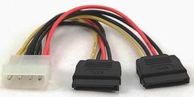 Фото товару Кабель Gembird CC-Sata-PSY подвійний кабель живлення SATA, 15см