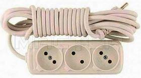 Фото товару Мережевий подовжувач Grunhelm WO3W18M 220 вольт на 3 розетки, довжина кабеля 1.8м
