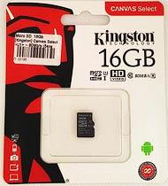 Фото товару Карта пам`яті 16Gb class 10, Kingston, microSD