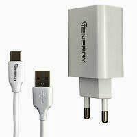 Фото товару Зарядний пристрій iEnergy HC-27, 2xUSB, 2,4A + Cable Type-C