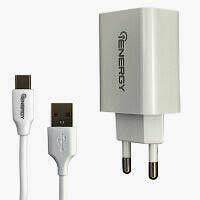 Фото товару Зарядний пристрій iEnergy HC-17, 1xUSB, 2A + Cable Type-C