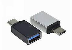 Фото товару Перехідник OTG з Type-C male на USB Female , черный