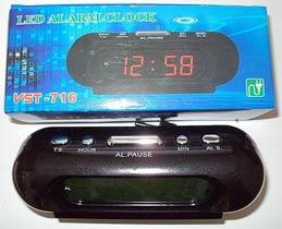 Фото товара Часы VST-716-4 настольные 220В /будильник/ Черный корпус