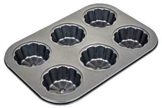 Фото товару Форма для випічки маффінів на 6 штук Gusto квадратна 26*17*2,8 з антипригарним покриттям