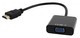 Фото товару Перетворювчач сигналу з HDMI на VGA з кабелем 10см A-HDMI-VGA-03 Cablexpert