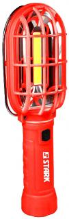 Фото товару Ліхтар ручний Stark L-2-02 Li, 3W COB+ 2шт RED LED сзаду , 230lm red flash, з магнітом, 3 бат.АА, 0,277кг