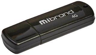 Фото товару Флеш пам`ять USB Mibrand Grizzly 4Gb USB 2.0 Black