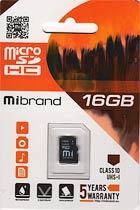 Фото товару Карта пам`яті 16Gb microSDHC UHS-I Mibrand
