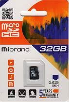 Фото товару Карта пам`яті 32Gb class 10, Mibrand, microSDHC UHS-1
