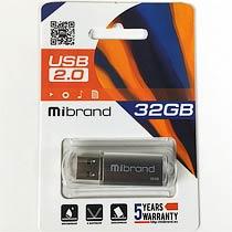 Фото товару Флеш пам`ять USB Mibrand Cougar 32Gb USB 2.0 сіра