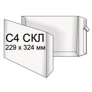 Фото товару Конверт поштовий С4 СКЛ, 90г, білий. Розмір: 229х324 мм